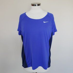 Nike Dri-Fit Running Size XL Two Tone Blue Violet